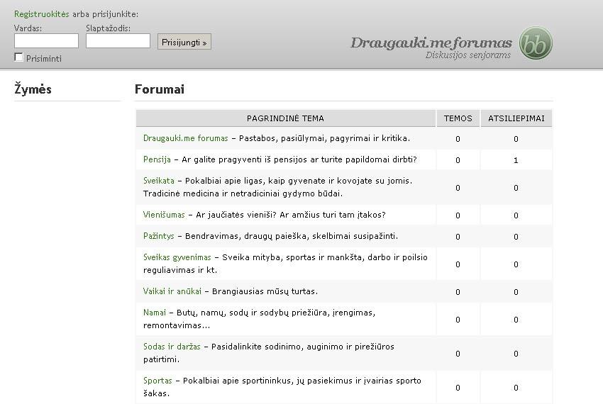 forumo įrengimas ir problemos)