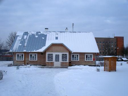 Pagal nuotraukas ir Radviliškio rajone rasto panašaus malūnininko namo atkurta senai stovėjusi troba.