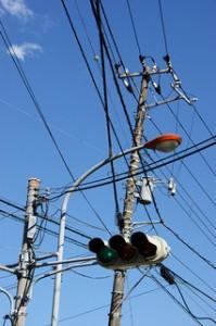 Gamtos stichijų žala elektros tinklams.