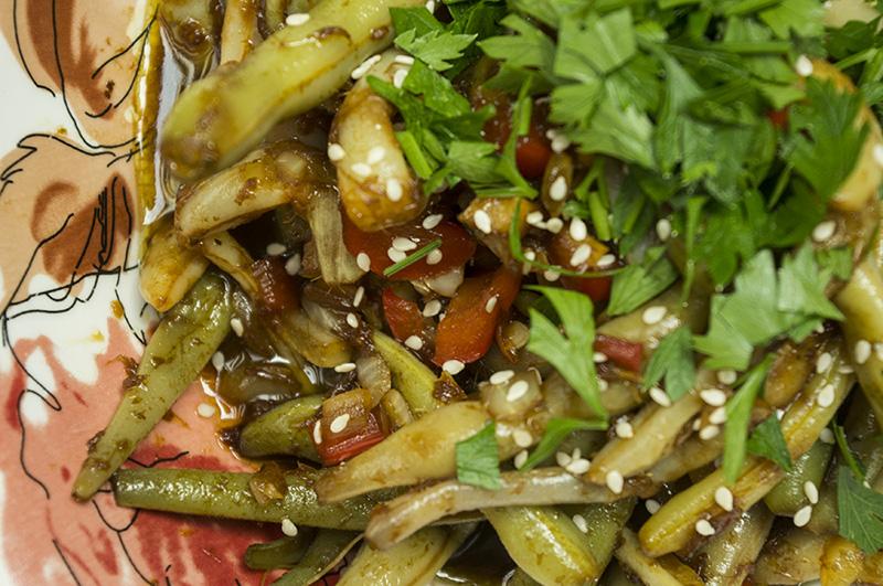 Šparaginių pupelių receptas kinietiškame sičuan padaže