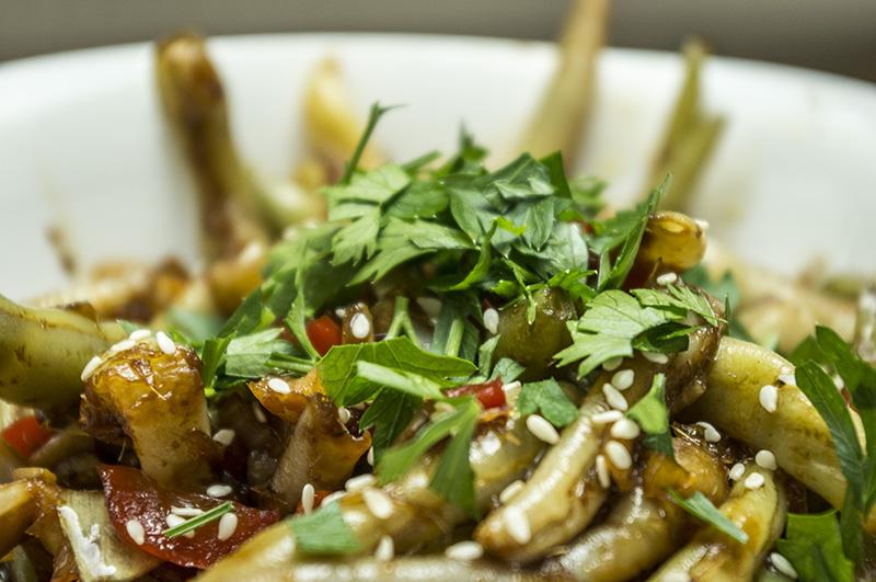 Šparaginių pupelių receptas kinietiškame sičuan padaže_2
